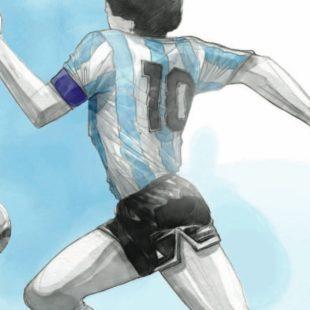 """Paolo Castaldi e il """"suo"""" Maradona"""