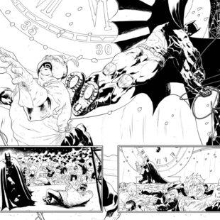 L'illustratore Timpano e The Shadow/Batman