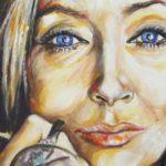 Oriana Fallaci in un ritratto di Antonella Toschi