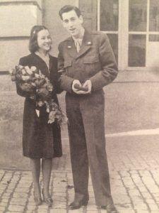 Sylvia Welter e Salinger il giorno del matrimonio