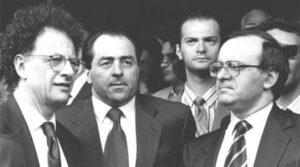 Pool di Tangentopoli: giudici Colombo, Di Pietro e Davigo