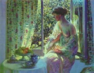 """Louis Ritman """"Donna alla finestra"""""""